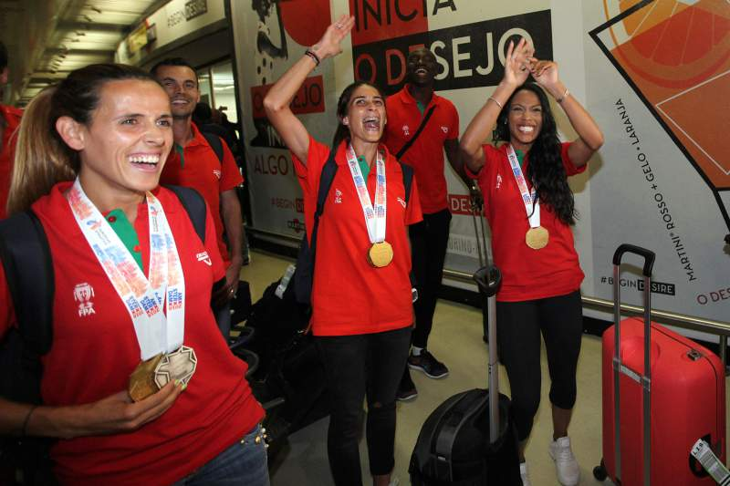 Regresso dos atletas medalhados no Campeonato da Europa de Atletismo