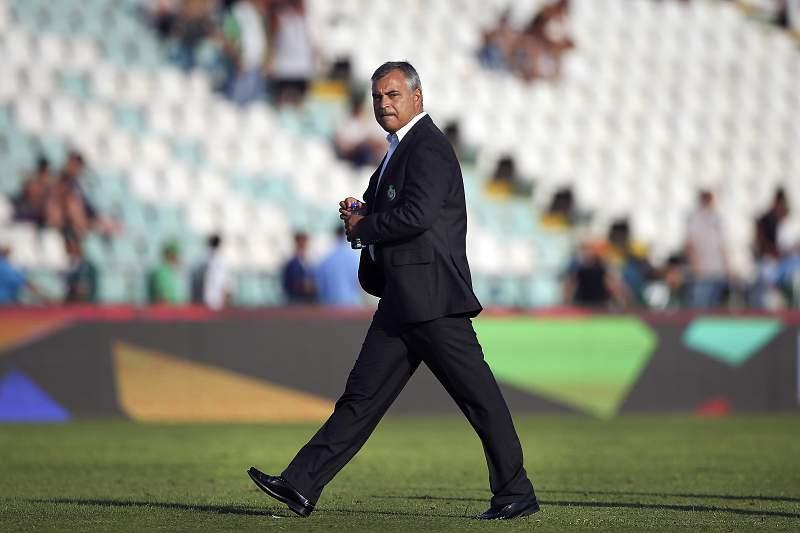 O treinador do Vitória de Setúbal, José Couceiro