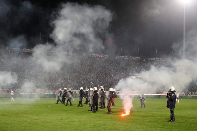 Incidentes no PAOK - Olympiakos de 3 de março