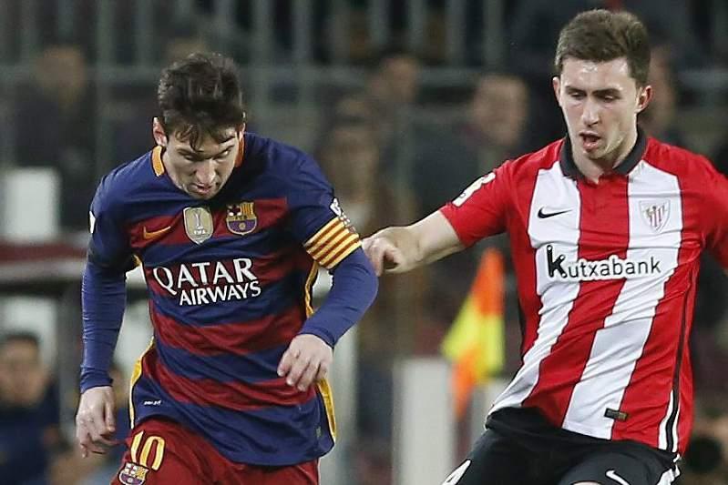 Lionel Messi e Aymeric Laporte
