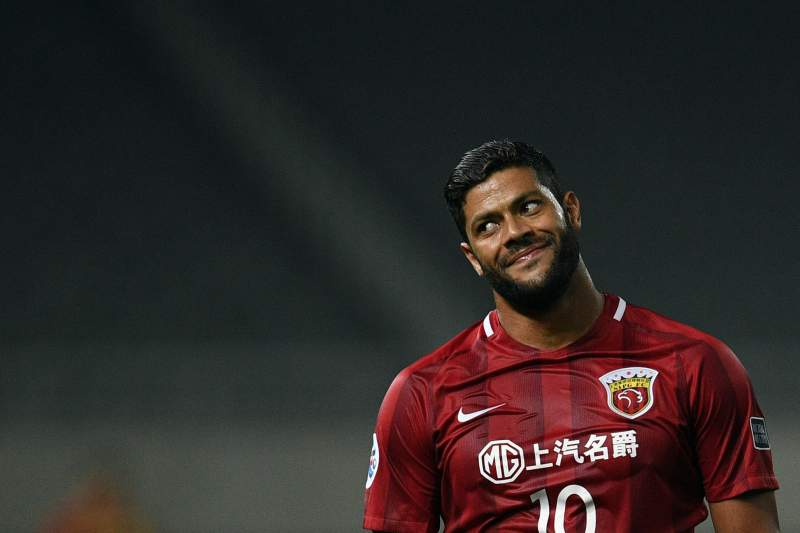 Shanghai SIPG'Brazilian forward Hulk reacts during the AFC Asian Champions League group match between the Shanghai SIPG and South Korea's FC Seoul in Shanghai on April 26, 2017. / AFP PHOTO / Johannes EISELE