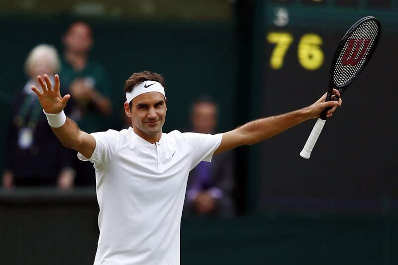 Roger Federer está nos 'oitavos' de Wimbledon