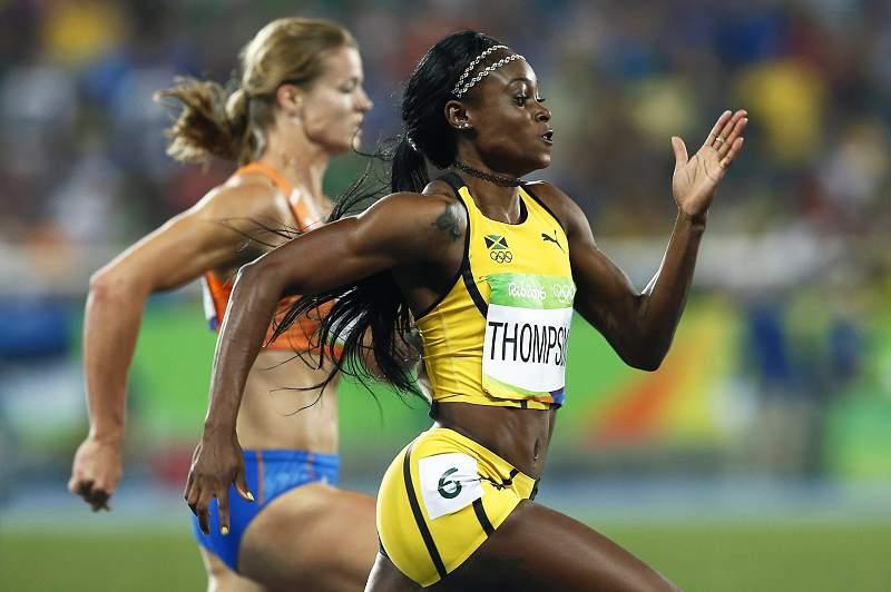 Jamaicana Elaine Thompson junta título dos 200 metros ao dos 100