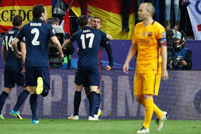 Antoine Griezmann marcou o golo no Vicente Calderón
