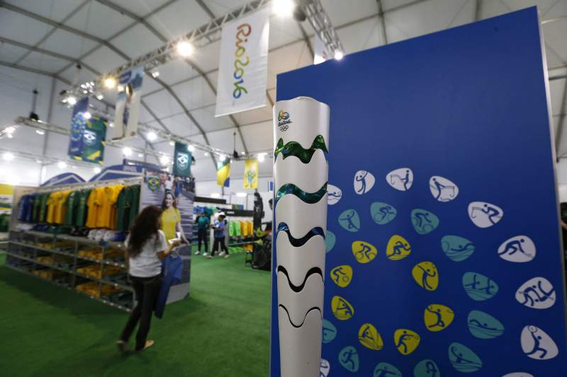 Opening of the Rio Olympics Megastore