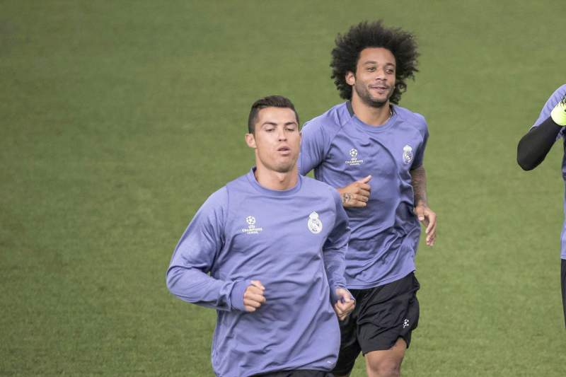 Training session of Real Madrid
