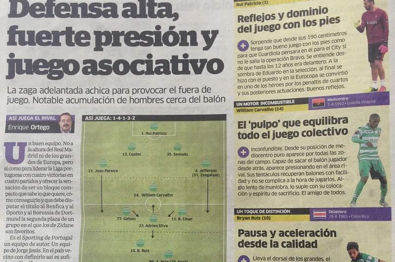 Imprensa madrilena rendida ao Sporting, o ´líder de Portugal`