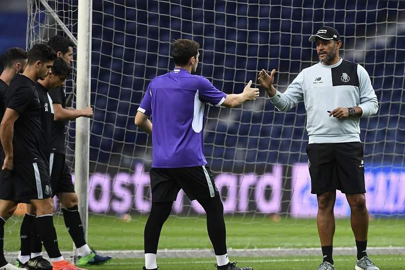 Nuno Espírito Santo, num treino do FC Porto