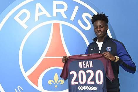 Filho de Weah assina aos 17 contrato profissional com o Paris Saint-Germain
