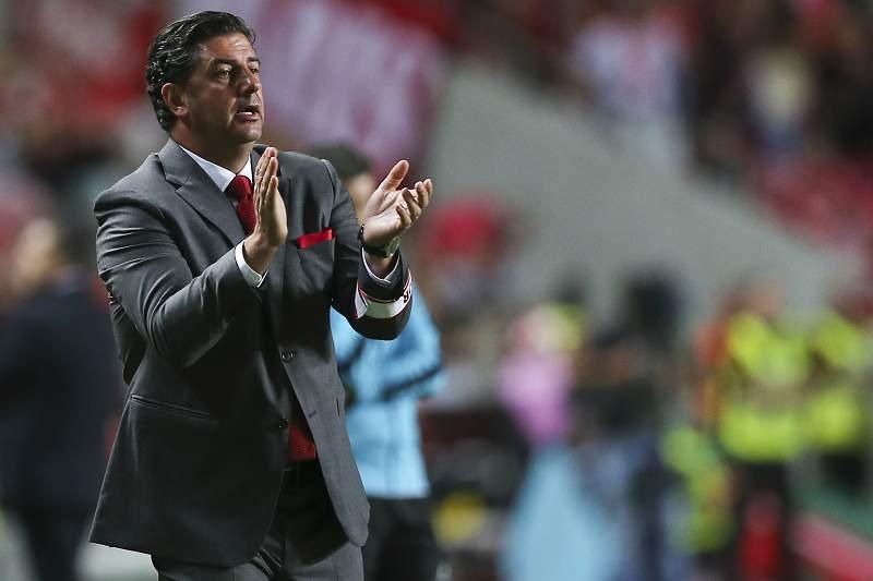 Rui Vitória em ação no jogo com o SC Braga