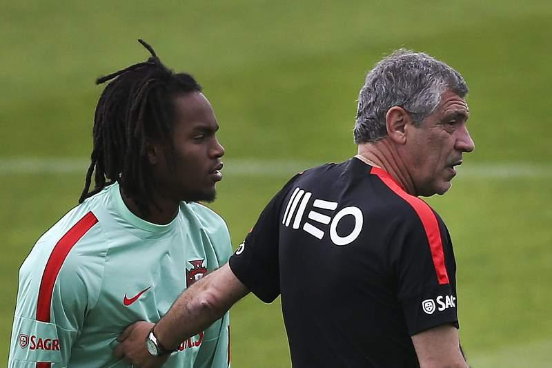 Renato Sanches e Fernando Santos