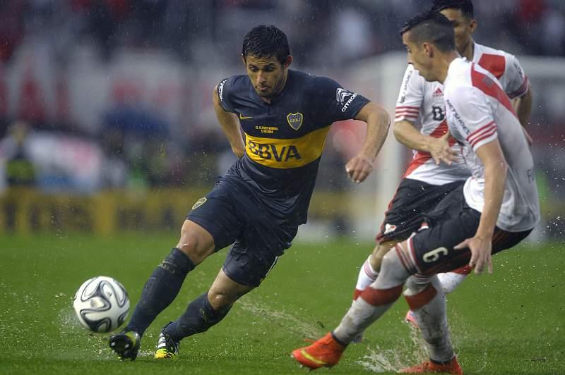 Marcelo Meli em ação pelo Boca Juniors