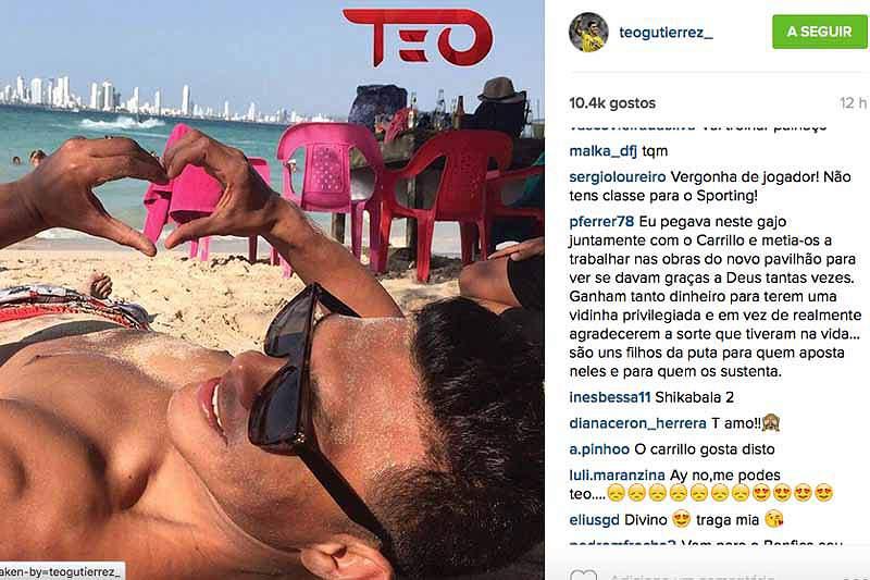 Teo Guttierrez na praia