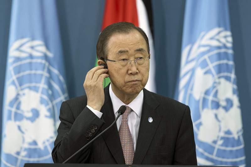 UN Secretary-General Ban Ki-moon in Ramallah