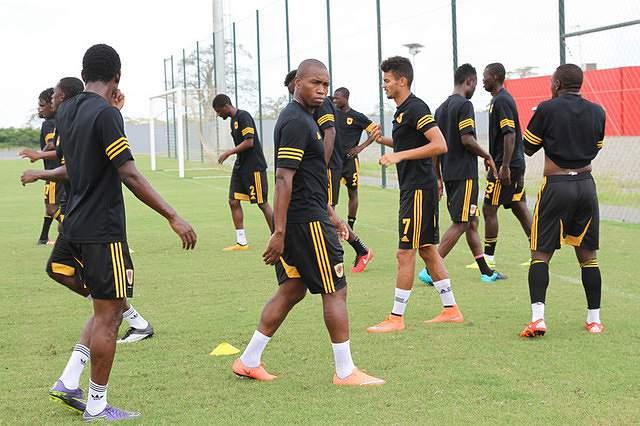 Jogadores da seleção angolana