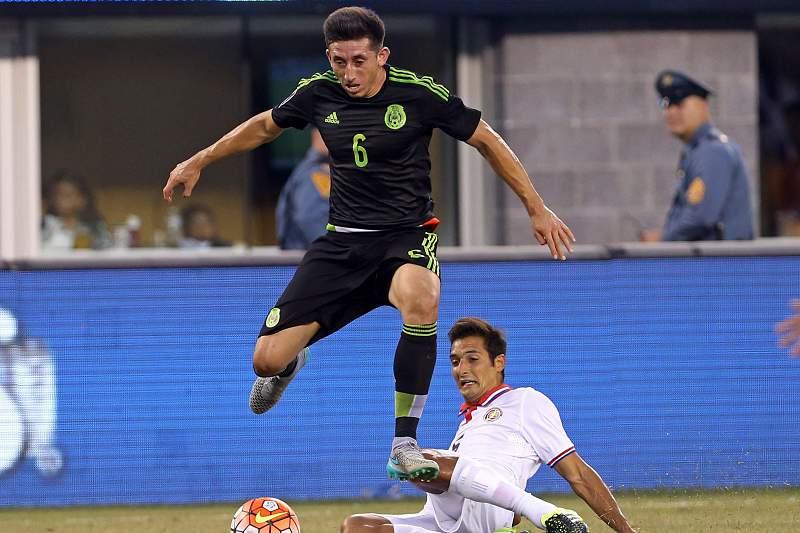 Hector Herrera em ação contra a Costa Rica
