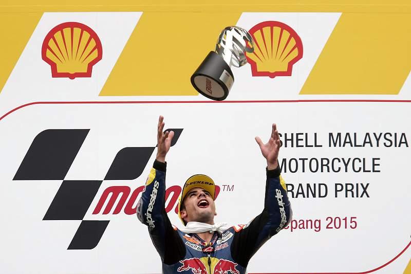 Miguel Oliveira celebra a vitória no GP da Malásia