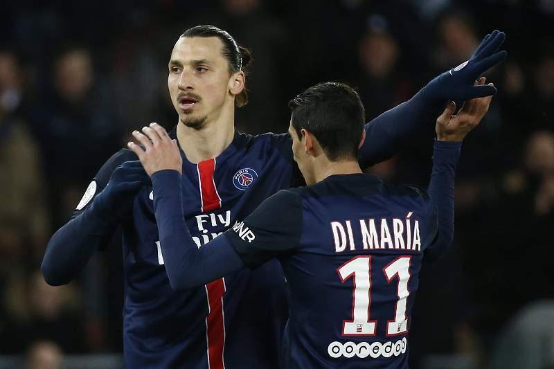 Di Maria e Zlatan Ibrahimovic