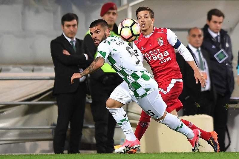 Rebocho em ação pelo Moreirense contra o SC Braga