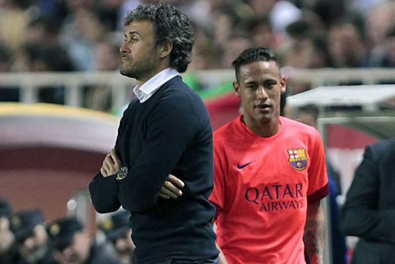 Luis Enrique e Neymar