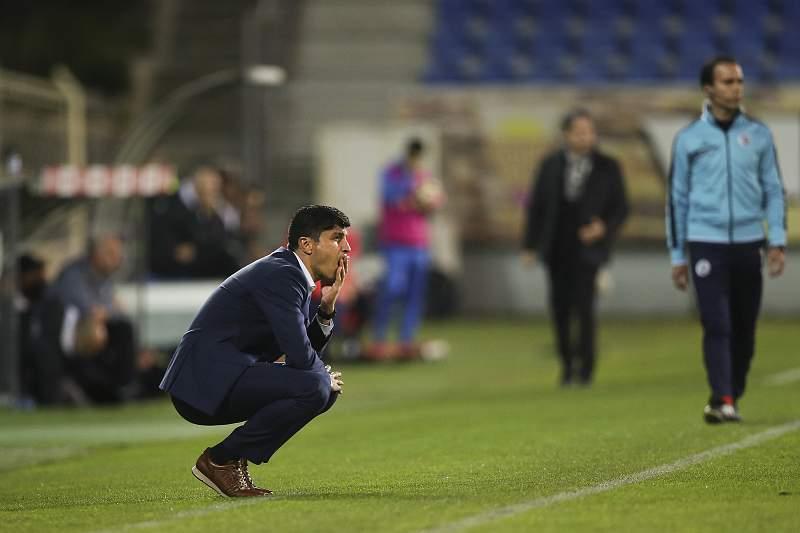 Pedro Emanuel reage durante o jogo entre Estoril-Praia e Boavista
