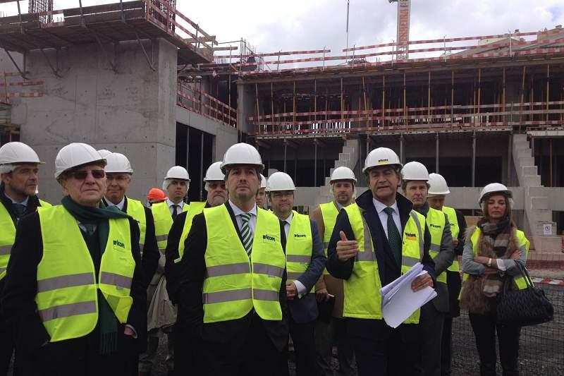 Leões mostram o progresso das obras do pavilhão João Rocha