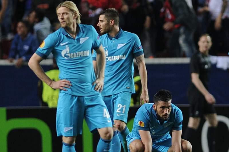 Jogadores do Zenit desolados
