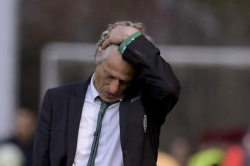 I Liga: Jorge Jesus treinador do Sporting no final do jogo com o Braga. HUGO DELGADO/LUSA