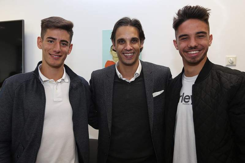 Nuno Gomes com Ricardo Araújo e Jorge Pereira