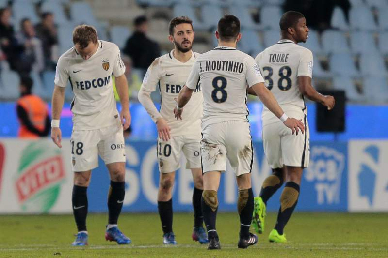 Bernardo Silva festeja golo pelo Mónaco