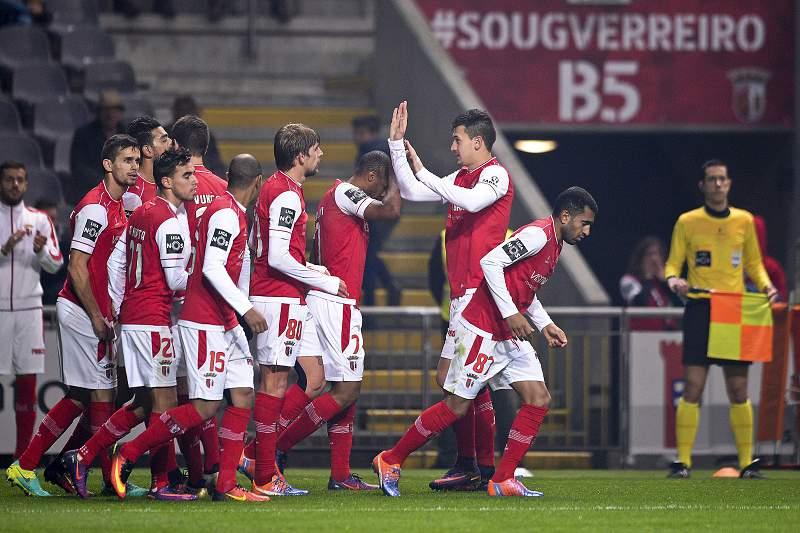 SC Braga festeja golo