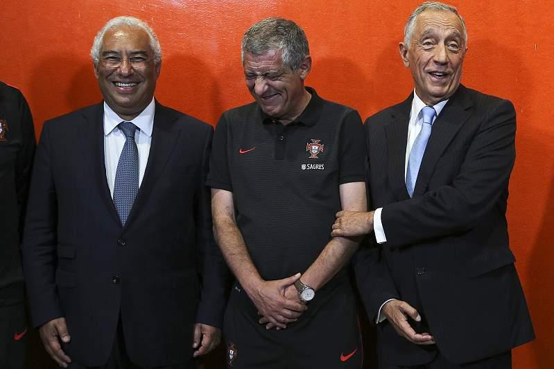 António Costa, Fernando Santos e Marcelo Rebelo de Sousa