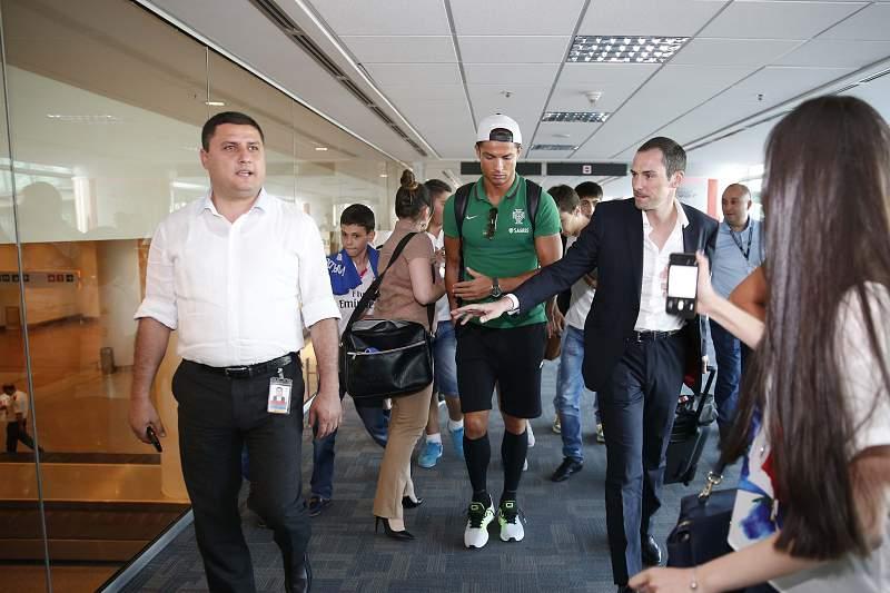 Cristiano Ronaldo chega à Arménia
