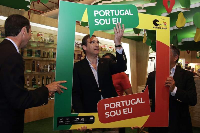 O presidente do PSD, Pedro Passos Coelho visita à Feira Nacional da Agricultura