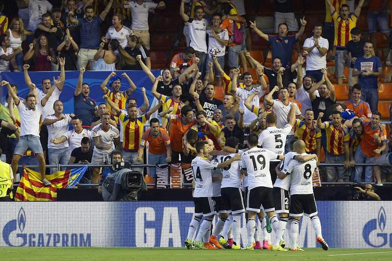 Valência celebra triunfo sobre o Mónaco