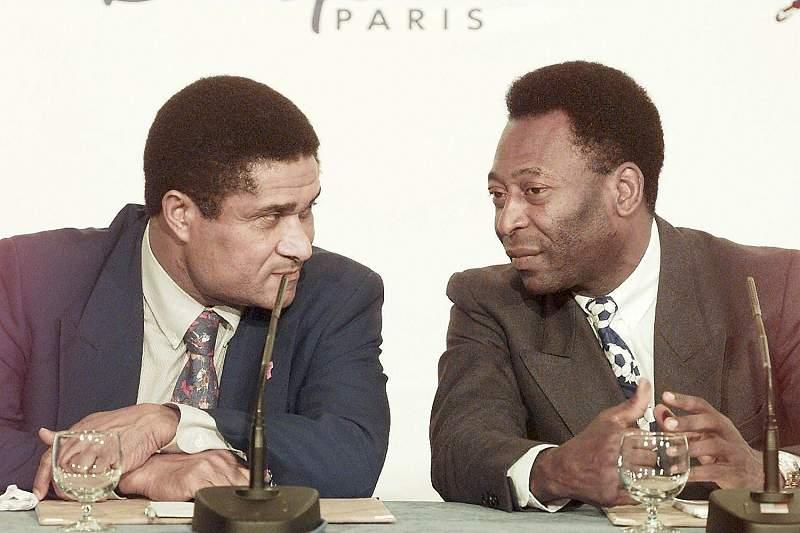 Eusébio e Pelé desenvolveram uma amizade ao longo dos anos