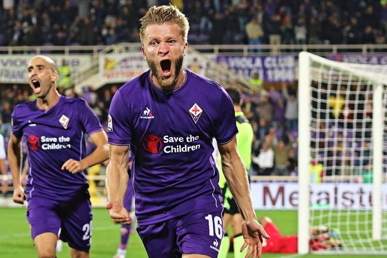 Jakub Blaszczykowski festeja golo pela Fiorentina
