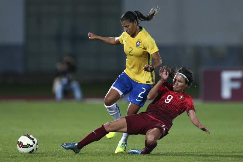 Futebol feminino: Portugal - Brasil