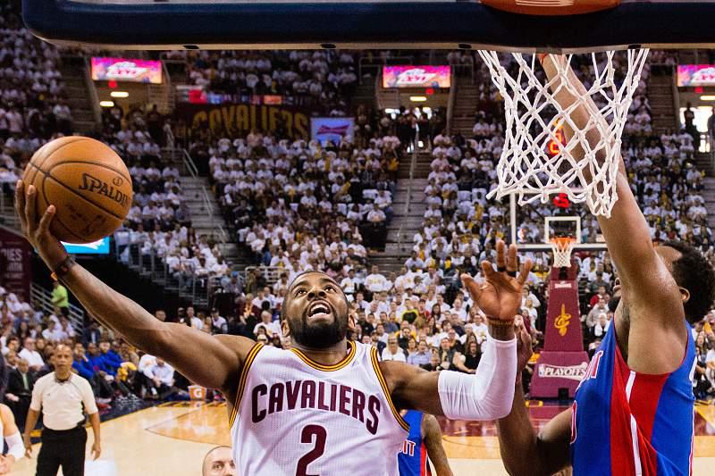 Kyrie Irving em ação pelos Cleveland Cavaliers