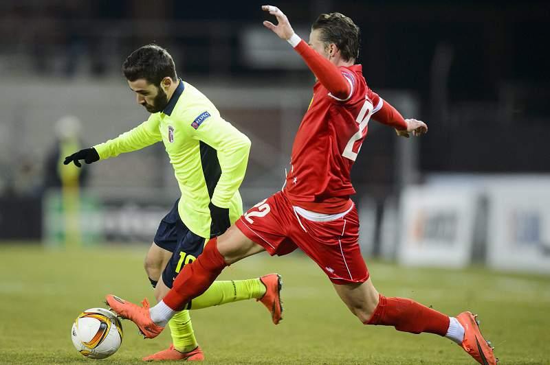 Rafa Silva em ação em Sion