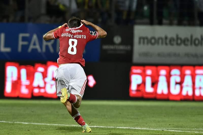 André Horta festeja o seu primeiro golo oficial pelo SL Benfica
