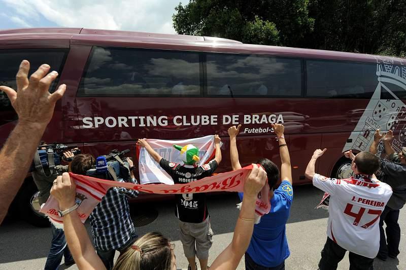 Chegada da equipa do Braga