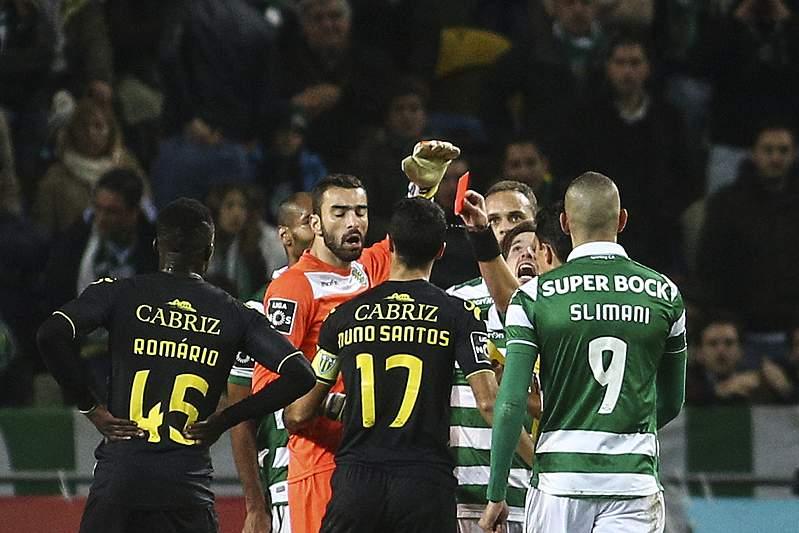 Sporting-Tondela: expulsão de Rui Patrício