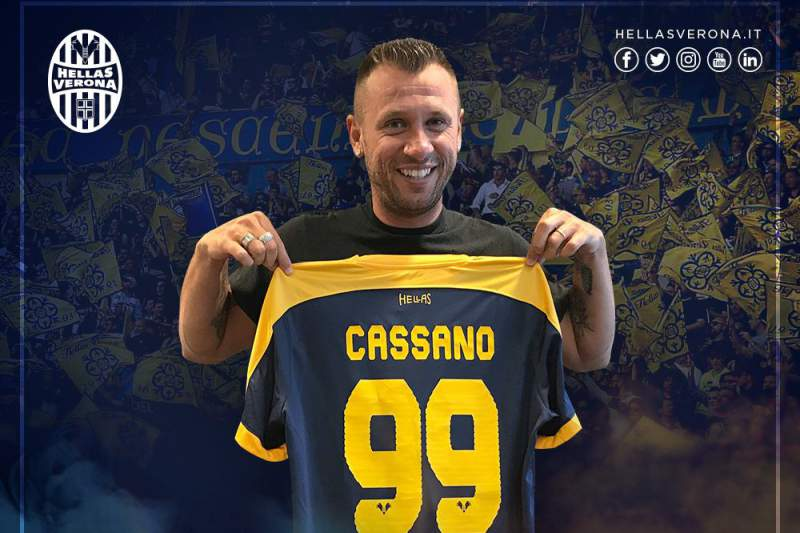Cassano assina pelo Hellas Verona