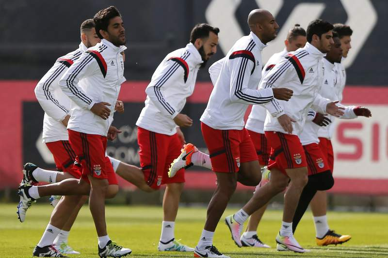 UEFA Champions League: Benfica training session