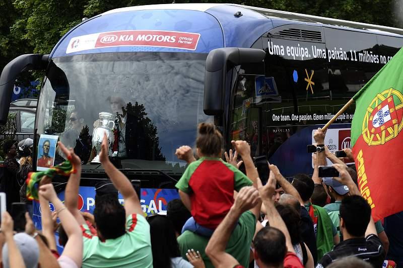 Autocarro de Portugal em Marcoussis