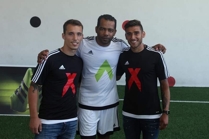Evandro Delgado, Salvio e Grimaldo
