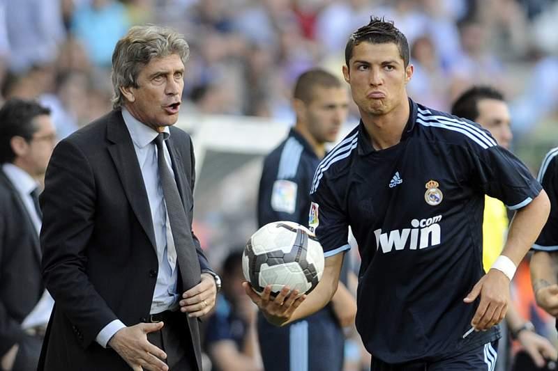 Pellegrini treinou Cristiano Ronaldo no Real Madrid