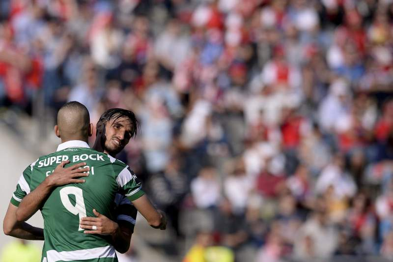 Bryan Ruiz marcou dois dos quatro golos do Sporting