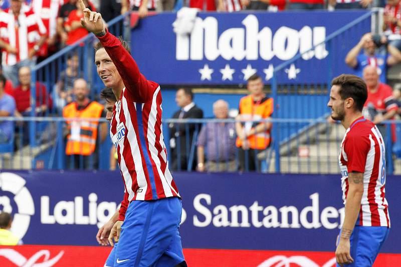 Torres festeja golo pelo Atlético